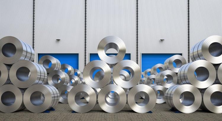 Rouleaux de tôle d'acier