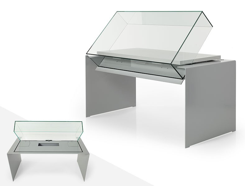 vitrine de musée métal